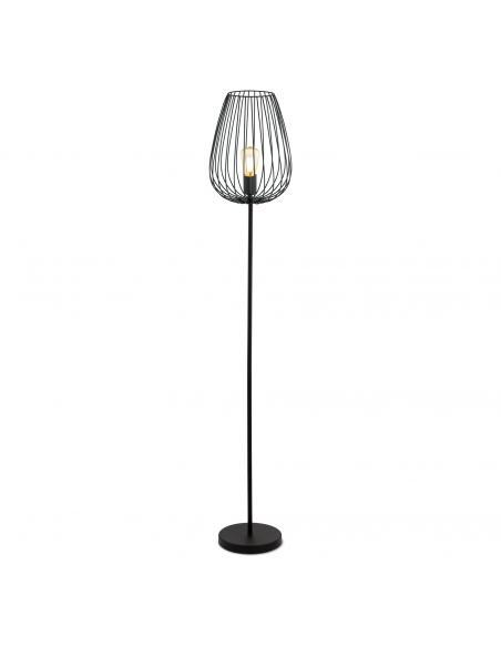 EGLO 49474 - NEWTOWN Lámpara de Salón en Acero negro