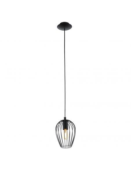 EGLO 49477 - NEWTOWN Lámpara de Salón en Acero negro