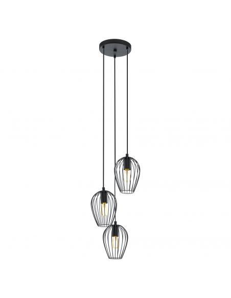 EGLO 49479 - NEWTOWN Lámpara de Salón en Acero negro