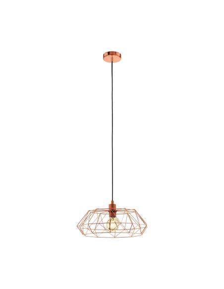 EGLO 49488 - CARLTON 2 Lámpara colgante de Cobre en Acero cobre