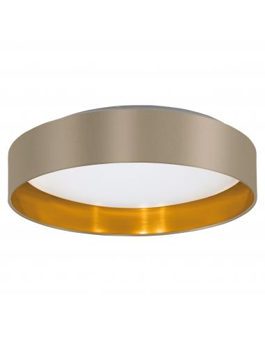 EGLO 99541 - MASERLO 2 Lámpara de techo en Acrílico, acero y Textil