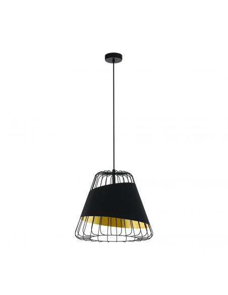 EGLO 49509 - AUSTELL Lámpara de Salón en Acero negro y Acero, textil