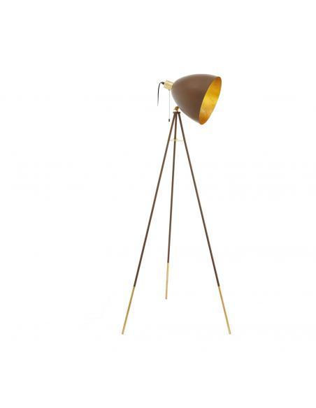 EGLO 49519 - CHESTER 1 Lámpara de Salón en Acero colores oxidados, oro