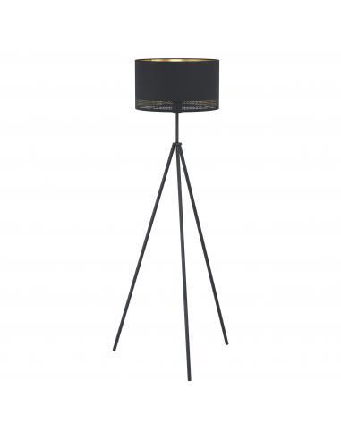 EGLO 99279 - ESTEPERRA Lámpara de pie en Acero y Textil