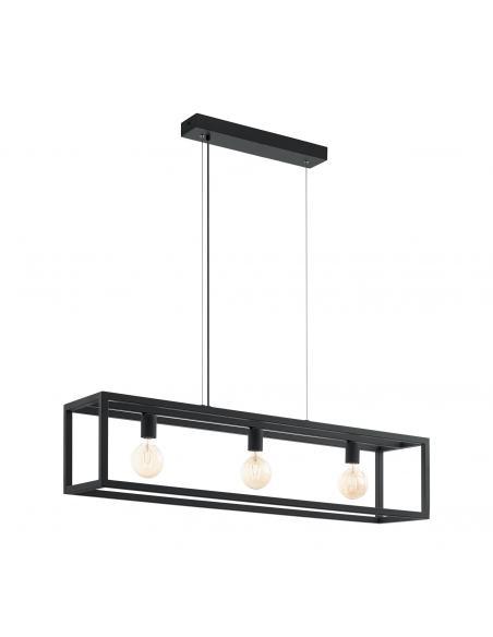 EGLO 49564 - ELSWICK Lámpara de Salón en Acero negro