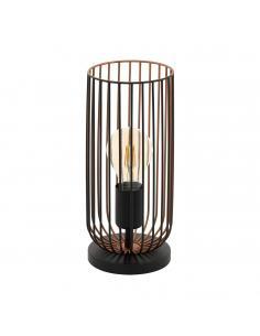 EGLO 49646 - ROCCAMENA Lámpara de Salón en Acero negro, cobre
