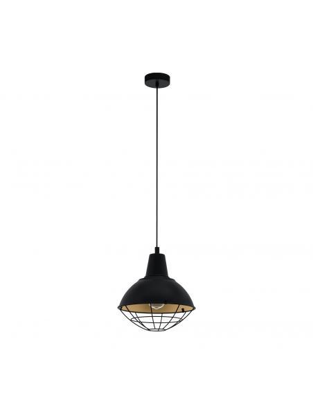 EGLO 49672 - CANNINGTON Lámpara de Salón en Acero negro, oro