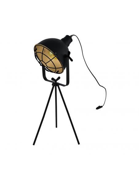 EGLO 49673 - CANNINGTON Lámpara de Salón en Acero negro, oro