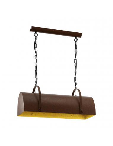 EGLO 49687 - DEERHURST Lámpara de Salón en Acero marrón