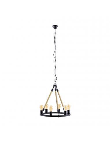 EGLO 49694 - FINDLAY Lámpara de Salón en Acero negro