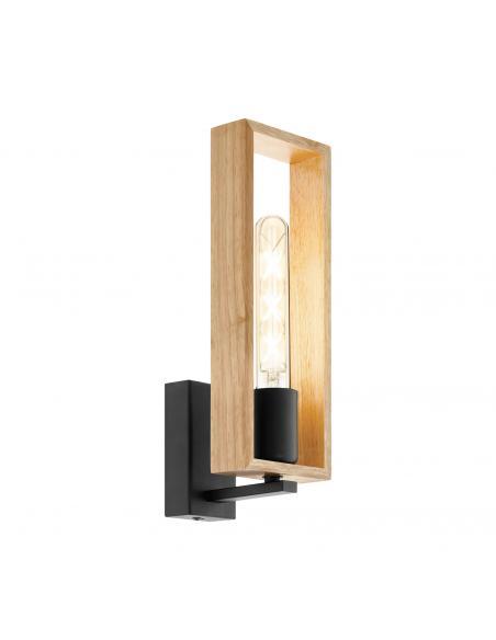 EGLO 49698 - LITTLETON Lámpara de Salón en Acero negro y Madera