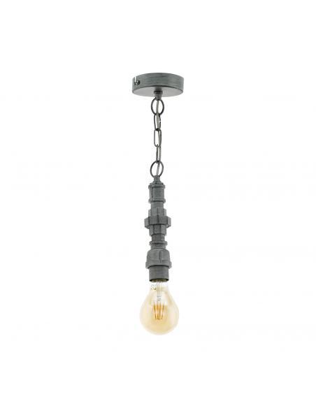 EGLO 49707 - CHEPSTOW Lámpara de Salón en Acero plata antigua