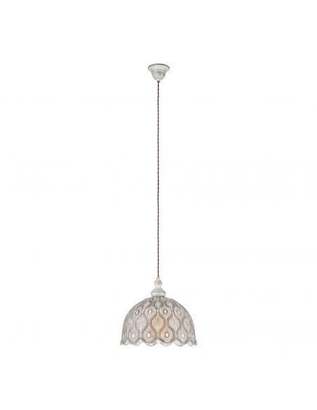EGLO 49717 - TALBOT 2 Lámpara de Salón en Acero blanco-antiguo