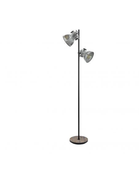 EGLO 49722 - BARNSTAPLE Lámpara de Salón en Madera, acero marrón-pátina, negro y Acero