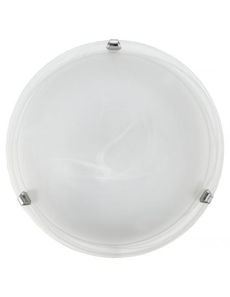 EGLO 7184 - SALOME Lámpara de Salón en Acero cromo y Vidrio alabastro