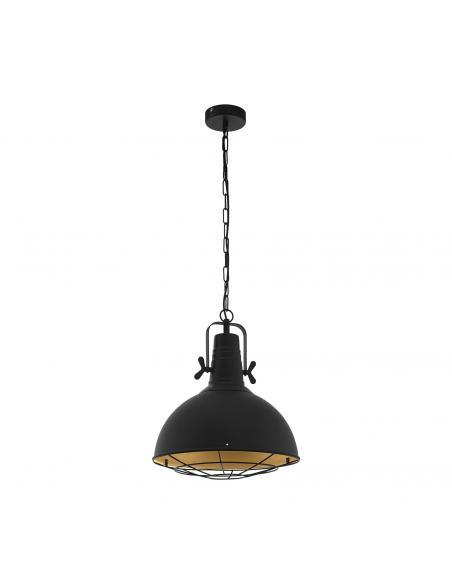 EGLO 49742 - CANNINGTON Lámpara de Salón en Acero negro, oro