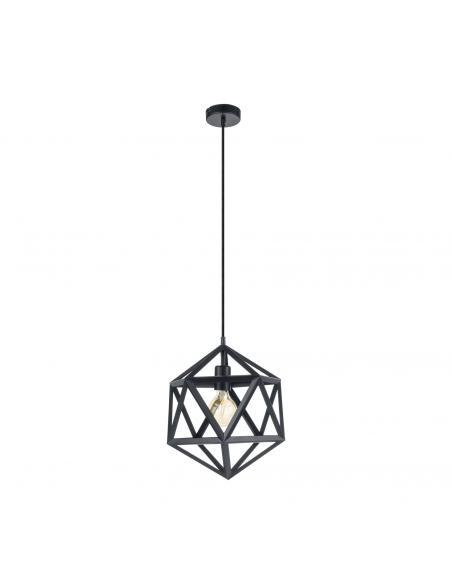 EGLO 49761 - EMBLETON Lámpara de Salón en Acero negro