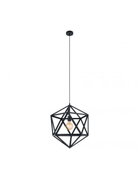 EGLO 49762 - EMBLETON Lámpara de Salón en Acero negro