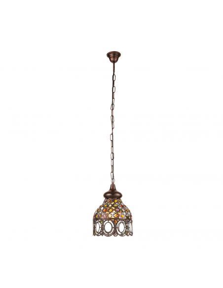 EGLO 49765 - JADIDA Lámpara colgante de Cobre en Acero colores de cobre antiguo y Vidrio