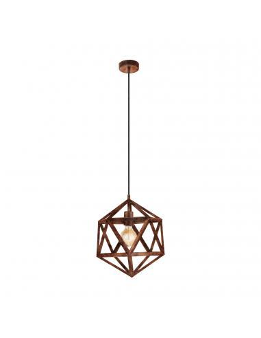 EGLO 49797 - EMBLETON Lámpara colgante de Cobre en Acero cobre antiguo