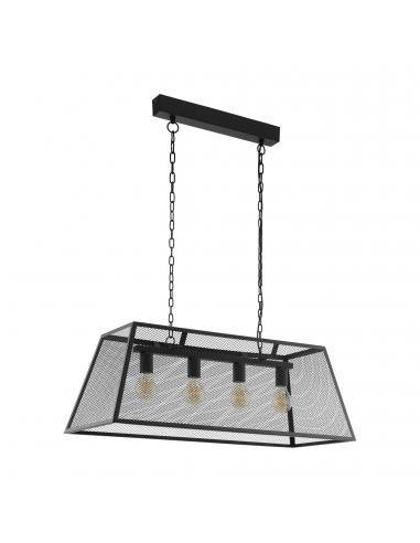 EGLO 49799 - AMESBURY Lámpara de Salón en Acero negro