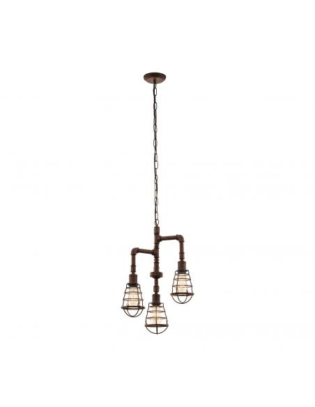 EGLO 49808 - PORT SETON Lámpara de Salón en Acero marrón antiguo