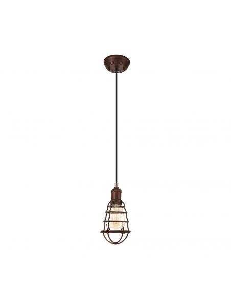 EGLO 49809 - PORT SETON Lámpara de Salón en Acero marrón antiguo
