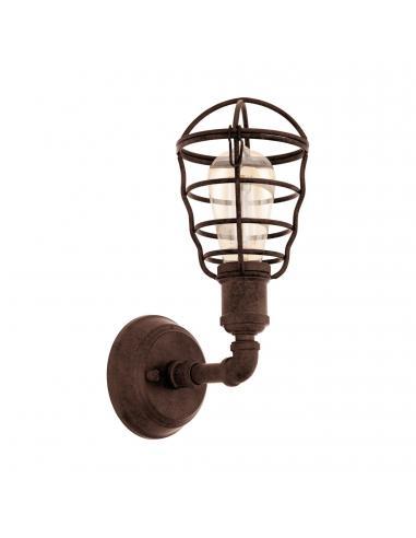 EGLO 49811 - PORT SETON Lámpara de Salón en Acero marrón antiguo