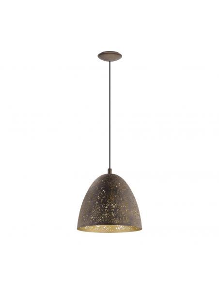 EGLO 49814 - SAFI Lámpara de Salón en Acero marrón, oro