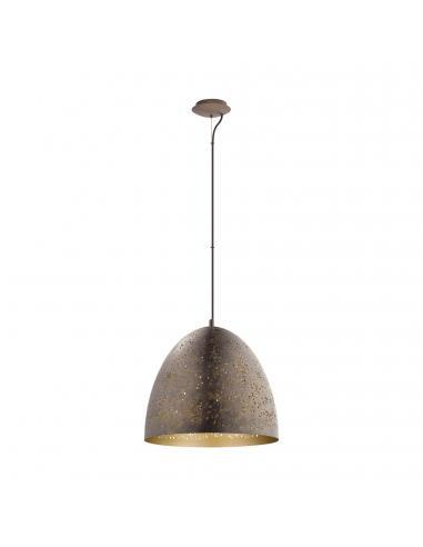 EGLO 49815 - SAFI Lámpara de Salón en Acero marrón, oro