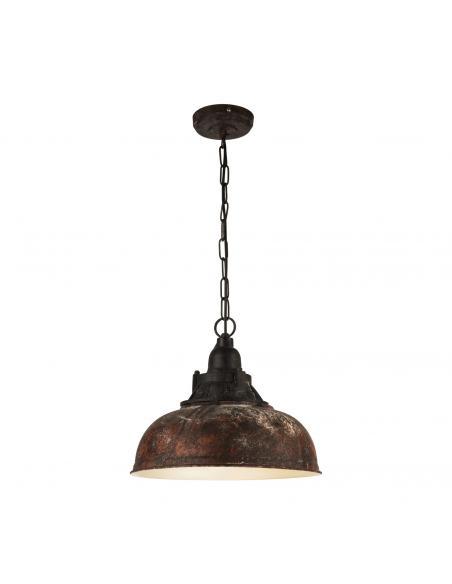EGLO 49819 - GRANTHAM 1 Lámpara de Salón en Acero marrón antiguo, beige
