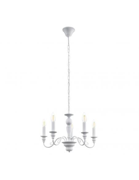 EGLO 49851 - CAPOSILE Lámpara de Salón en Acero blanco
