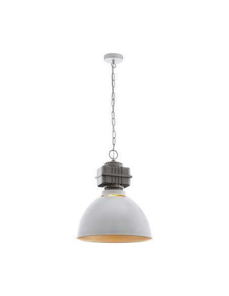 EGLO 49868 - ROCKINGHAM Lámpara de Salón en Acero gris, oro rosáceo