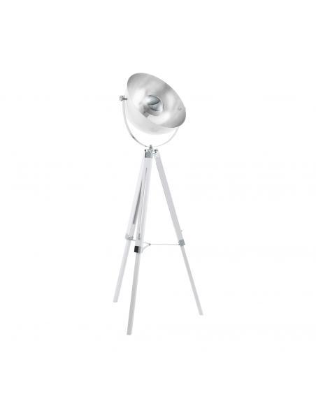 EGLO 49877 - COVALEDA Lámpara de Salón en Madera, acero blanco , cromo, plata