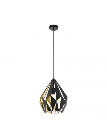 EGLO 49931 - CARLTON 1 Lámpara de Salón en Acero negro, oro