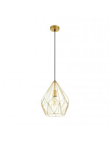 EGLO 49933 - CARLTON Lámpara de Salón en Acero dorados