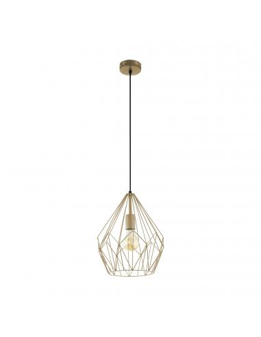 EGLO 49934 - CARLTON Lámpara de Salón en Acero oro anaranjado