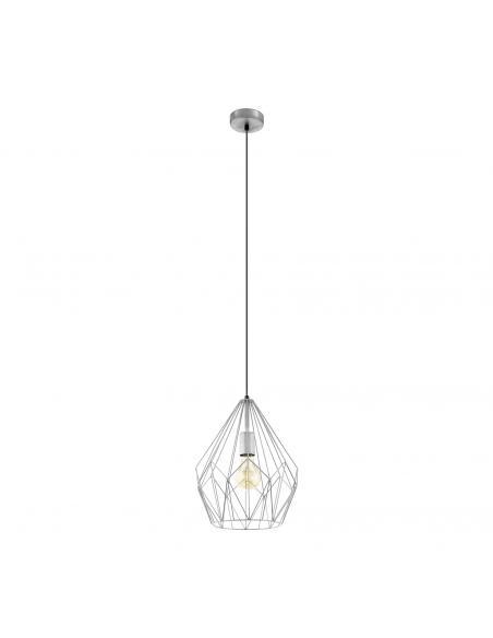 EGLO 49935 - CARLTON Lámpara de Salón en Acero plata