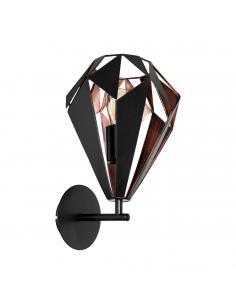 EGLO 49992 - CARLTON 1 Lámpara de Salón en Acero negro, cobre