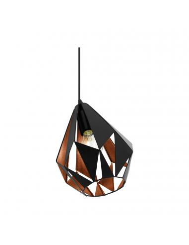 EGLO 49993 - CARLTON 1 Lámpara de Salón en Acero negro, cobre