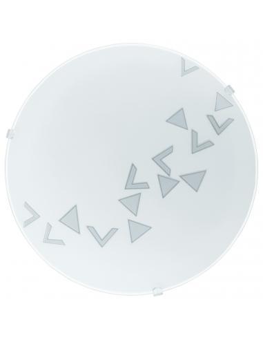 EGLO 80263 - MARS Lámpara de Salón en Acero blanco y Vidrio satinado