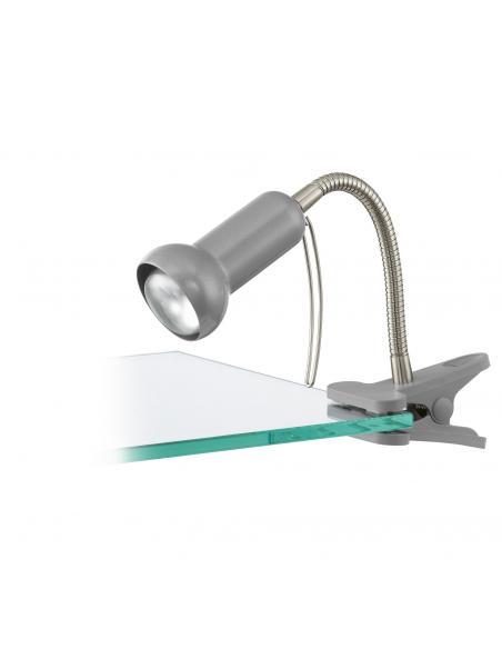 EGLO 81265 - FABIO Lámpara de Pinza LED en Acero, plástico plata