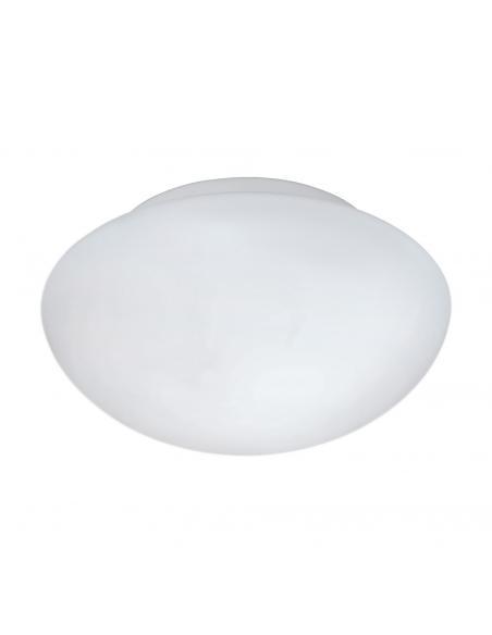 EGLO 81635 - ELLA Lámpara de Salón en Acero blanco y Vidrio opalino mate