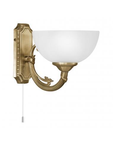 EGLO 82751 - SAVOY Lámpara de Salón en Fundición de metal bruñido y Vidrio satinado
