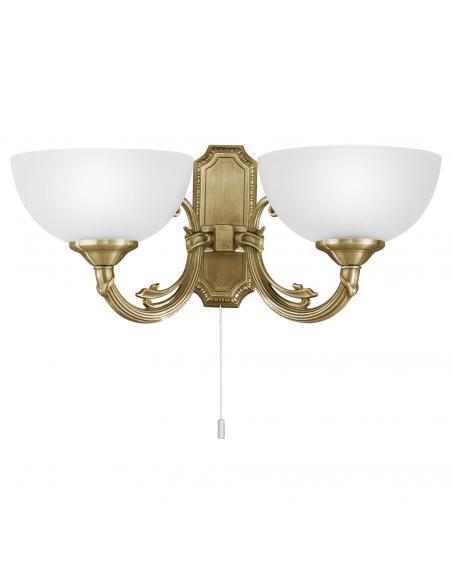 EGLO 82752 - SAVOY Lámpara de Salón en Fundición de metal bruñido y Vidrio satinado