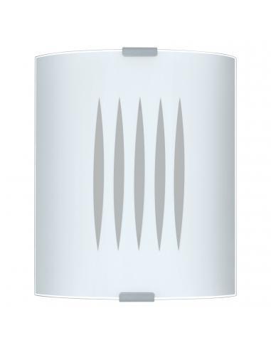 EGLO 83132 - GRAFIK Lámpara de Salón en Acero y Vidrio satinado