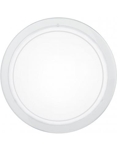 EGLO 83153 - PLANET 1 Lámpara de Salón en Acero blanco y Vidrio lacado