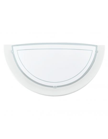 EGLO 83154 - PLANET 1 Lámpara de Salón en Acero blanco y Vidrio lacado