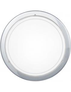 Regleta de 4 luces dirigibles de LED integrado cálido en acero blanco ARMENTO