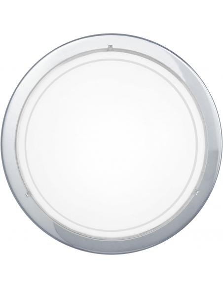 EGLO 83155 - PLANET 1 Lámpara de Salón en Acero cromo y Vidrio lacado